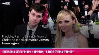 VIDEO Christina Ricci e Mark Hampton, la storia d'amore