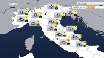 Previsioni meteo: irruzione fredda con piogge su mezza Italia