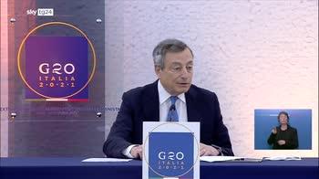 G20 Afghanistan, la conferenza stampa di Draghi