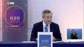 G20 Afghanistan, Draghi: un successo la risposta multilaterale
