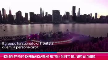 VIDEO I Coldplay ed Ed Sheeran cantano Fix You