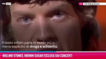 """VIDEO Rolling Stones, """"Brown Sugar"""" esclusa dai concerti"""