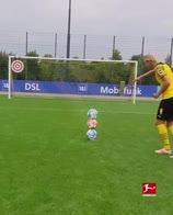 haaland tre palloni allenamento