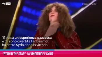 VIDEO Star in the star: la vincitrice è Syria