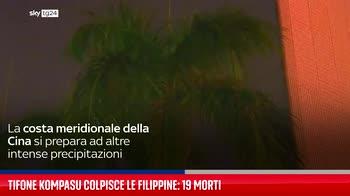 Tifone Kompasu colpisce le Filippine: 19 morti