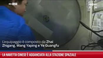 La navetta cinese � agganciata alla stazione spaziale