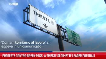 Proteste contro green pass, a Trieste si dimette leader portuali