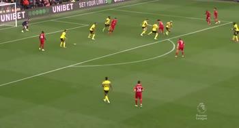 Watford-Liverpool, il gol di Salah