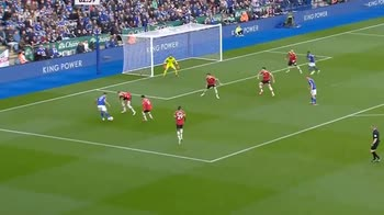 Leicester - Man United, il gol di Vardy