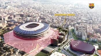 Barcellona, come saranno il nuovo Camp Nou e l'area intorno