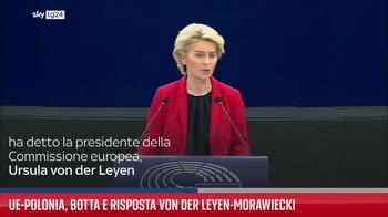 Ue-Polonia, botta e risposta von der Leyen-Morawiecki