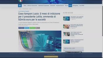 PREM - LAZIO CASO TAMPONI SITO