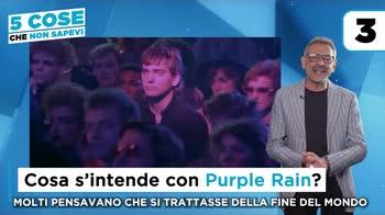 Purple Rain: 5 cose che non sai della canzone. VIDEO