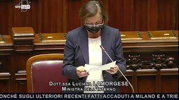 Cortei novax, Lamorgese respinge accuse di strategia della tensione
