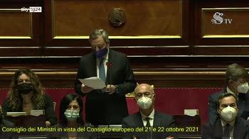 Consiglio Ue, il discorso di Draghi al Senato