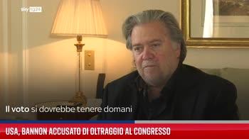 Usa, Bannon accusato di oltraggio al Congresso