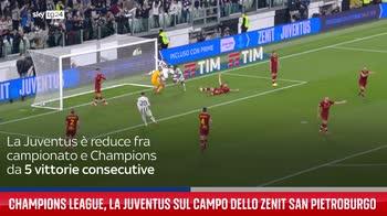 Champions League, la Juventus sul campo dello Zenit San Pietroburgo