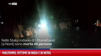 Maltempo, vittime in India e in Nepal