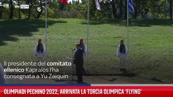 Olimpiadi Pechino 2022, arrivata la torcia olimpica ?Flying?