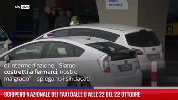 Sciopero nazionale dei taxi dalle 8 alle 22 del 22 ottobre