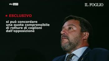 ERROR! Salvini: la quota di rotture che arriva da FDI dovrebbe ricadere su Pd e M5s