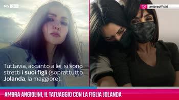 VIDEO Ambra Angiolini, il tatuaggio con la figlia Jolanda