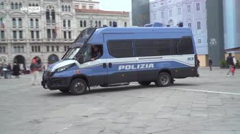 Trieste, manifestazione no green pass bloccate infiltrazioni da estremiste