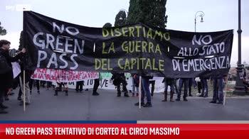 Roma, tentativo di corteo no Green pass al Circo Massimo