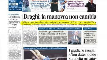 Rassegna stampa, i giornali del 24 ottobre