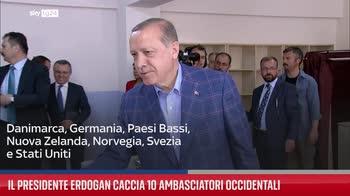 Il presidente Erdogan caccia 10 ambasciatori occidentali