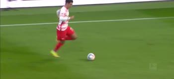 Il gol di Hugo Novoa, Lipsia-Greuther Furth