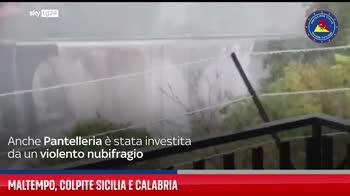 Maltempo, colpite Sicilia e Calabria