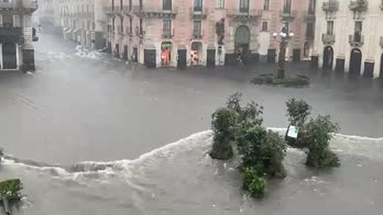 Maltempo, alluvione a Catania
