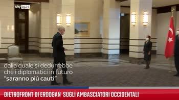 Dietrofront di Erdogan  sugli ambasciatori occidentali