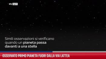 Osservato primo pianeta fuori dalla Via Lattea