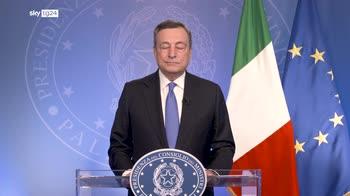 Draghi: Italia riparte, lavoriamo per rendere il Paese coeso