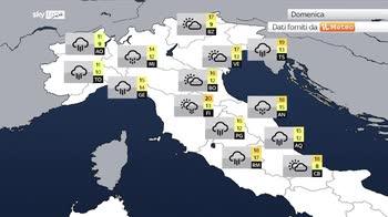 Previsioni meteo: medicane fino a sabato poi piogge ovunque